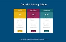 Pricing Table Templates 34 Best Html Css Pricing Table Free Premium Templates