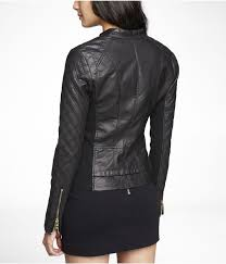 MINUS THE) LEATHER QUILTED MOTO JACKET | Express | Me | Pinterest ... & (MINUS THE) LEATHER QUILTED MOTO JACKET | Express Adamdwight.com