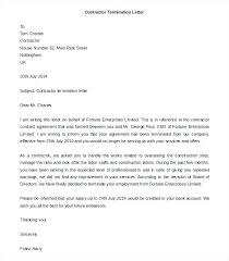 Termination Letter For Contract – Resume Template Directory