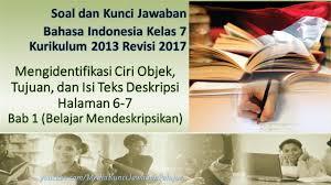 Berilah tanda silang (x) pada huruf a, b, c, dan d yang. Soal Kunci Jawaban B Indonesia Kelas 7 Mengidentifikasi Ciri Objek Tujuan Isi Teks Deskripsi Youtube