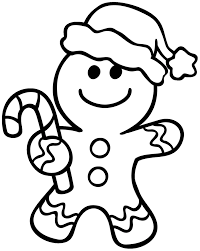 Gingerbread Man Coloring Pages Christmas Coloringstar