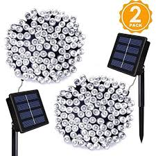 Solar Powered Automatic Lights Ora Solar Powered 112 Foot 200 Led String Lights With