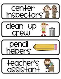 First Grade Classroom Job Chart Cute Classroom Job Classroom Helper Labels For Chart