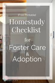 this free printable homestudy checklist for adoption and foster care will make gathering doentation easier