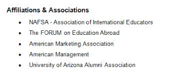 associations screenshot. Additional information ...