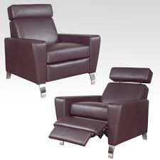brown leather contemporary recliners chairs  modern popular