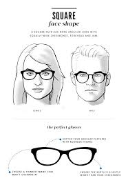 Glasses And Face Shape Chart How To Choose The Right Glasses For Your Face Shape Coastal