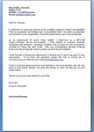 Cover Letter For Customer Service Representative Call Center Cover Letter Sample For Bpo Jobs Cover Letter Bpo Jobs