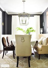 black ring pull studded dining chair design ideas