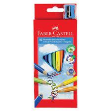 "<b>Карандаши цветные</b> утолщенные <b>FABER</b>-<b>CASTELL</b> ""Jumbo"" <b>10</b> ..."
