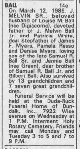 J Melvin Ball Sr The Baltimore Sun MD 14 Mar 1989 - Newspapers.com