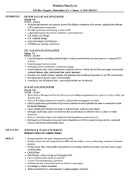 Datastage Developer Resume Sample Etl Sample Of Informatica