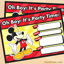 Make Your Own Mickey Mouse Invitations Terrific Mickey Mouse Clubhouse Birthday Invitations To Create Your