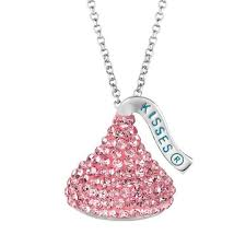 hershey s kiss sterling silver crystal pendant made with swarovski elements