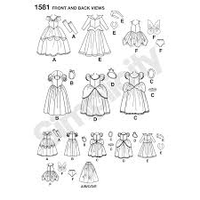 Doll Clothes Patterns Beauteous Simplicity Pattern 48 Disney Princess Doll Clothes