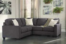 Alenya Charcoal 2 Piece Sectional Sofa For 62500 Furnitureusa And Beautiful 2  Piece Sectional Sofa (