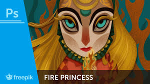 How To Paint A Fire Princess in Adobe Photoshop #photography ...