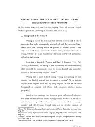 an analysis of coherence and cohesion in writing background for  an analysis of coherence and cohesion in writing background for proposal of thesis thesis qualitative research