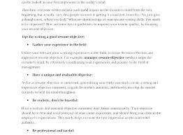 Job Objective For Resume Classy Resume Examples Objective ] Resume Examples Objective Resume