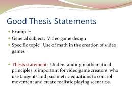 writing a good thesis statement good thesis statements iuml130151 example