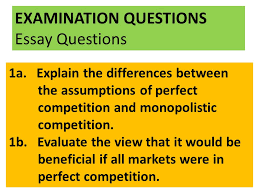 monopolistic competition ppt  examination questions essay questions