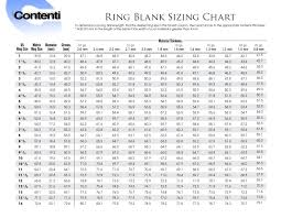 Ring Blank Sizing Chart Uk Ring Blank Sizing Chart Pdf Jewelry Tools Jewelry