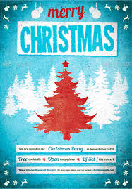 christmas poster templates psd eps png vector christmas poster blue background