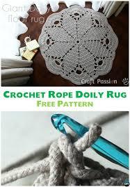 diy crochet rope doily rug free pattern 10 handmade crochet area rug ideas