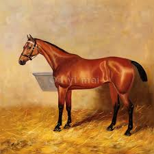 famous horse prints and paintings wall art brown realistic horse painting for