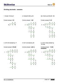 Long Division Worksheets For 5th Grade Dividing Decimals By Pdf 4 ...