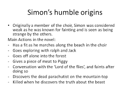 Quotes From Lord Of The Flies Unique Character Analysis In Lord Of The Flies Simon Simon's Humble