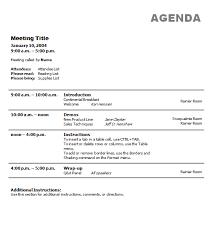Business Meeting Agenda Template Fascinating Business Meeting Agenda Format