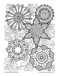 Small Picture Detailed Snowflake coloring page for grown ups Adult Coloring