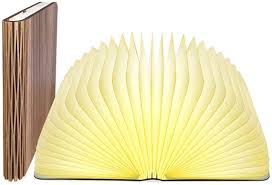 Mood Lamp Book Light Lamp Book Large Size Folding Mood Light Novelty Led Night Light Usb Large Capacity Rechargeable Wooden Table Lamp 6 5 X 4 9 X 1 In