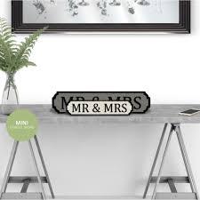 mr and mrs mini road sign
