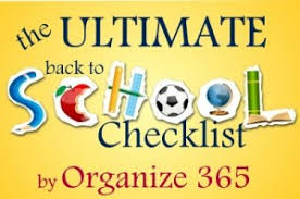School Checklist The Ultimate Back To School Checklist Organize 365