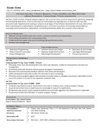 Software Engineer Resume Example Page 1