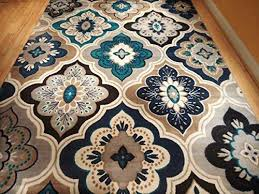 blue area rugs 5x7 elegant new modern blue gray brown 8x11 rug area rug casual 8x10