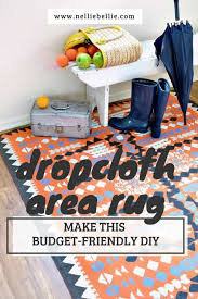 create a dropcloth rug easy to follow tutorial to make this budget friendly diy