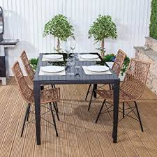 polynesian furniture. Polynesian Poly Rattan \u0026 Steel Outdoor Garden Furniture Dining Table Chair Set T