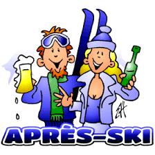 Image result for apres ski party cartoon