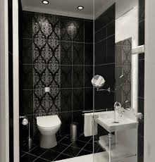 extraordinary black and white bathroom. Creative Decorating Design In Bathroom With Modern Shower Tile : Extraordinary Ideas For Black Ceramic And White