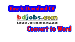 Convert Resume To Cv bdjobs cv or resume download and convert to Microsoft word 100 79