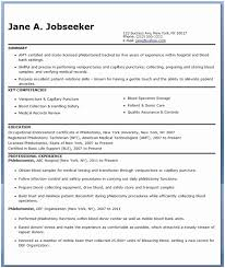 Phlebotomist Resume Extraordinary Cover Letter Examples For Phlebotomy Jobs Phlebotomist Resume Sample