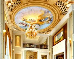 3d Ceiling Design Wallpaper Details About Rich Cunning Picture 3d Ceiling Mural Full Wall Photo Wallpaper Print Home Decor
