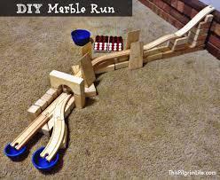 wooden marble tracks diy run 2 capture make a run with train and blocks