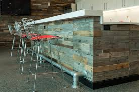 Barnwood Bar reclaimed wood paneling sustainable lumber pany 1423 by xevi.us