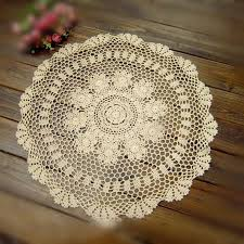 23 5 inches60cm round crochet table cover hand crochet tablecloth round tablecloths vintage table mat coasters for home decor af009 lace tablecloths
