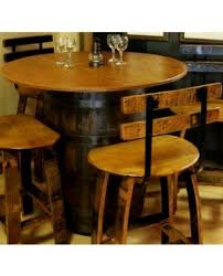 wood barrel furniture. Barrel Bistro Table With Oak Top Wood Furniture