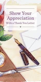 Show Your Appreciation With A Thank You Letter Hallmark Ideas